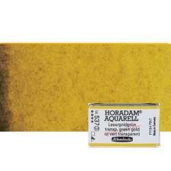 Schmincke - Schmincke Horadam Aquarell 1/1 Tablet 537 Transparent Green Gold seri 3 (1)
