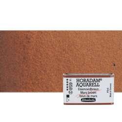 Schmincke - Schmincke Horadam Aquarell 1/1 Tablet 658 Mars Brown seri 2