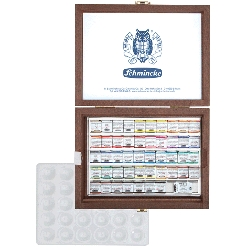 Schmincke - Schmincke Horadam Aquarell Sulu Boya Seti 48 Renk 1/2 Tablet Ahşap Kutu Kod:74548