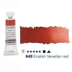 Schmincke - Schmincke Horadam Aquarell Tube 15ml S1 English-Venetian Red 649