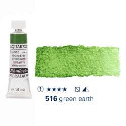 Schmincke - Schmincke Horadam Aquarell Tube 15ml Seri 1 Green Earth 516