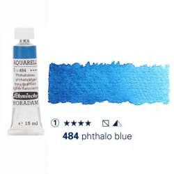 Schmincke - Schmincke Horadam Aquarell Tube 15ml Seri 1 Phthalo Blue 484
