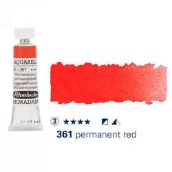 Schmincke - Schmincke Horadam Aquarell Tube 15ml Seri 3 Permanent Red 361