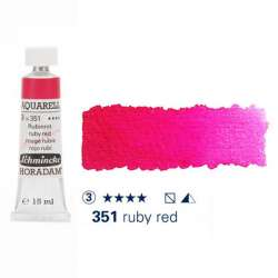 Schmincke - Schmincke Horadam Aquarell Tube 15ml Seri 3 Ruby Red 351
