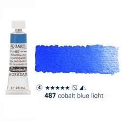 Schmincke - Schmincke Horadam Aquarell Tube 15ml Seri 4 Cobalt Blue Light 487