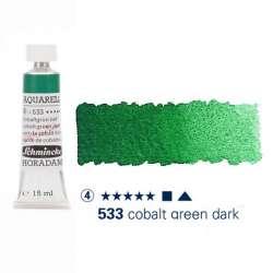 Schmincke - Schmincke Horadam Aquarell Tube 15ml Seri 4 Cobalt Green Dark 533