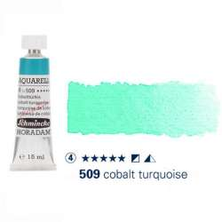 Schmincke - Schmincke Horadam Aquarell Tube 15ml Seri 4 Cobalt Turquoise 509