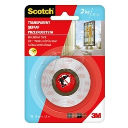 Scotch - Scotch Çift Taraflı Şeffaf Bant 19mm x 1,5 m