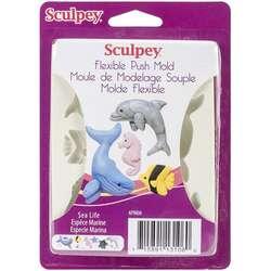 Sculpey - Sculpey Flexible Push Mold Esnek Model Kalıbı Sea Life APM06