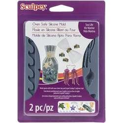 Sculpey - Sculpey Oven Safe Silicone Mold Sea Life 2 Parça APM61