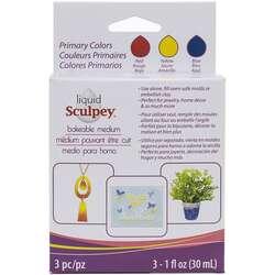 Sculpey - Sculpey Sıvı Pişmiş Kil 3lü Set 3x30ml Primary Colors ALSPRI1