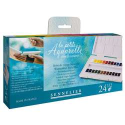 Sennelier - Sennelier Aquarelle Sulu Boya 24lü Tablet 131681