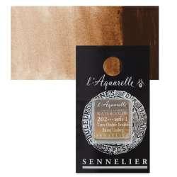 Sennelier - Sennelier Artist Tam Tablet Sulu Boya S1 No:202 Burnt Umber