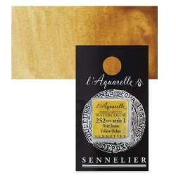 Sennelier - Sennelier Artist Tam Tablet Sulu Boya S1 No:252 Yellow Ochre