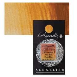 Sennelier - Sennelier Artist Tam Tablet Sulu Boya S1 No:257 Gold Ochre