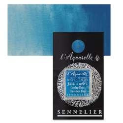 Sennelier - Sennelier Artist Tam Tablet Sulu Boya S1 344 Cinereous Blue