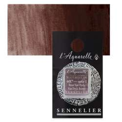 Sennelier - Sennelier Artist Tam Tablet Sulu Boya S1 407 Van Dyck Brown