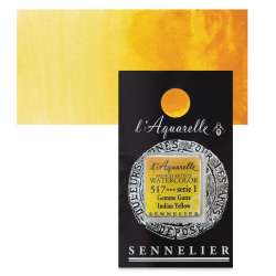 Sennelier - Sennelier Artist Tam Tablet Sulu Boya S1 517 Indian Yellow