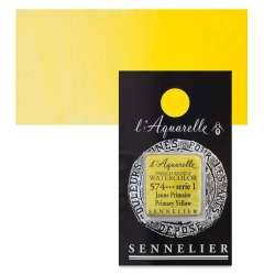 Sennelier - Sennelier Artist Tam Tablet Sulu Boya S1 574 Primary Yellow