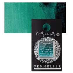 Sennelier - Sennelier Artist Tam Tablet Sulu Boya S1 807 P. Green Deep