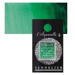 Sennelier - Sennelier Artist Tam Tablet Sulu Boya S1 817 Sennelier Green