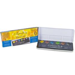 Sennelier - Sennelier Artists Sulu Boya Set 6 Renk Yarım Tablet N131608