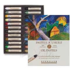 Sennelier - Sennelier Yağlı Pastel 24lü Assorties Set