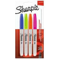 Sharpie - Sharpie Fine Point Marker Kalem 4lü Set Canlı Renkler 2065403