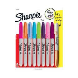 Sharpie - Sharpie Fine Point Marker Kalem 8+1 Set 1937229