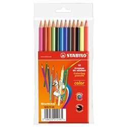 Stabilo - Stabilo Color Kuru Boya 12 Renk Askılı Paket (1212/77-01)