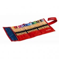 Stabilo - Stabilo Point 88 İnce Keçe Uçlu Kalem 25 Renk Rulo Çantalı Set 8825-021