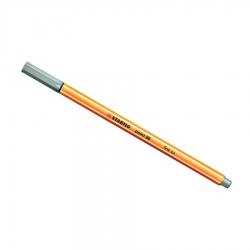 Stabilo - Stabilo Point 88 İnce Keçe Uçlu Kalem-Light Gray