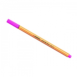 Stabilo - Stabilo Point 88 İnce Keçe Uçlu Kalem-Neon Pink