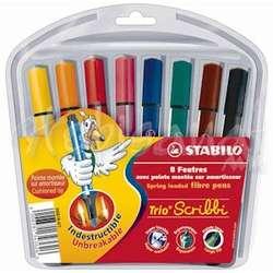 Stabilo - Stabilo Scribbi Yaylı Keçeli Boya Takımı 8 Renk