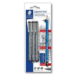 Staedtler - Staedtler Pigment Liner Çizim Seti 308 SBK3P
