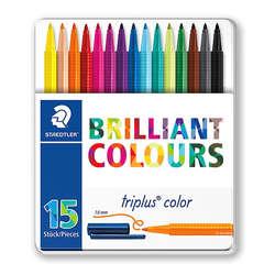 Staedtler - Staedtler Triplus Color Keçe Uçlu Kalem 1.0mm 15li Metal Kutu