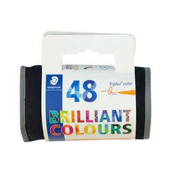 Staedtler - Staedtler Triplus Color Keçe Uçlu Kalem 1.0mm 48li Çantalı Set