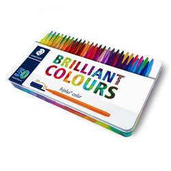 Staedtler - Staedtler Triplus Color Keçe Uçlu Kalem 1.0mm 50li Metal Kutu