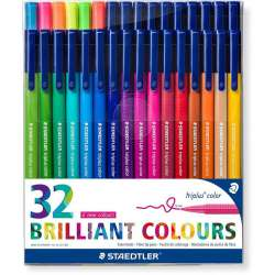Staedtler - Staedtler Triplus Color Keçe Uçlu Kalem Brilliant Colours 1.0mm 32li