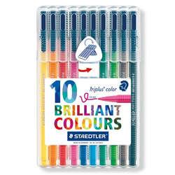 Staedtler - Staedtler Triplus Color Keçe Uçlu Kalem 1.0mm 10lu Set