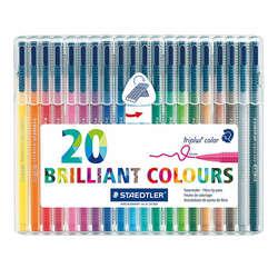 Staedtler - Staedtler Triplus Color Keçe Uçlu Kalem 1.0mm 20li Set