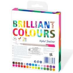 Staedtler - Staedtler Triplus Fineliner İnce Uçlu Keçeli Kalem 0.3mm Brilliant Colours 30lu (1)