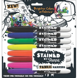 Sharpie - Stained By Sharpie Fabric Markers Textil Kalem Seti 8li Set