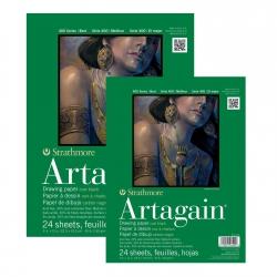 Strathmore - Strathmore Artagain Drawing Paper Siyah 24 Yaprak 160gr 400 Series