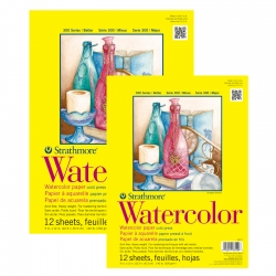 Strathmore - Strathmore Watercolor Cold Press 12 Yaprak 300 g 300 Series