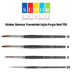 Südor - Südor Samur Yuvarlak Uçlu Fırça Seri 110