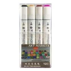 Anka Art - Superior Çift Uçlu Art Marker MS-837 12li Set Plastik Kutu (1)