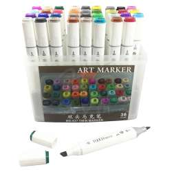 Anka Art - Superior Çift Uçlu Art Marker MS-837 36lı Set Plastik Kutu