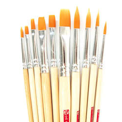 Art Creation - Talens Art Creation Fırça Seti Yuvarlak ve Düz Uç 10lu