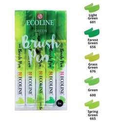 Talens - Talens Ecoline Brush Pen Setler 5li Yeşil Tonlar